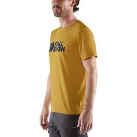 Fjällräven Logo Camiseta Hombre, amarillo